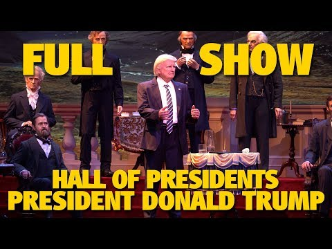 Hall of Presidents with President Donald Trump | Walt Disney World