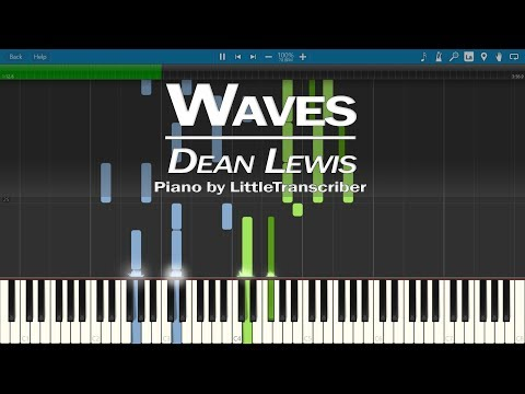 Dean Lewis - Waves (Piano Cover) Synthesia Tutorial by LittleTranscriber