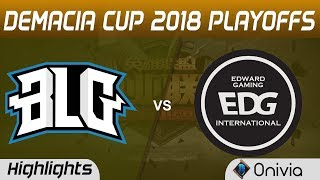 Video BLG vs EDG Highlights Game 1 Demacia Cup Summer 2018 Playoffs Bilibili Gaming vs Edward Gaming by On download MP3, 3GP, MP4, WEBM, AVI, FLV Juni 2018
