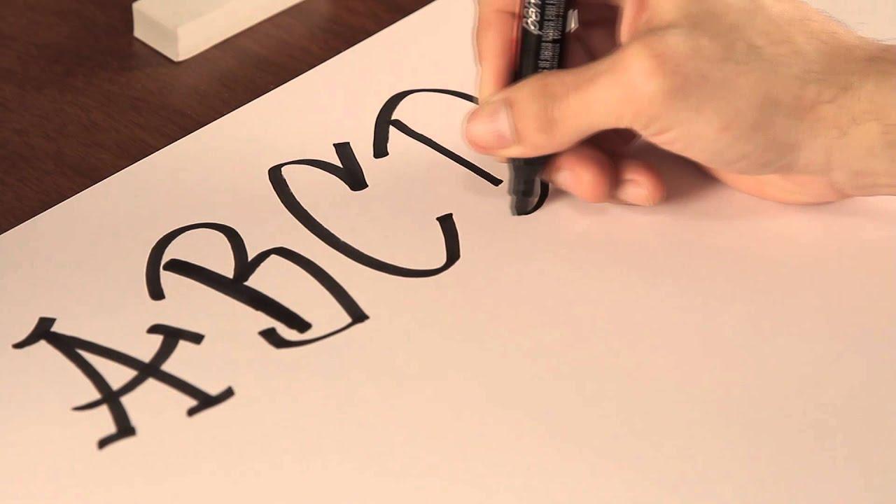 Cómo dibujar letras de graffiti : Tips de dibujo - YouTube