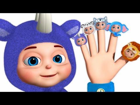 Animal Finger Family | Wild Animal Sounds For Children | Fancy Babies Nursery Rhymes