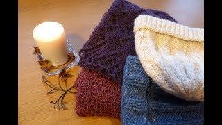 Несколько готовых работ: всё шапки да шарфы