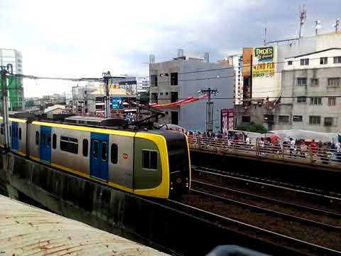 Light Rail Transit: LRT-1 1200 Series Arriving At EDSA Station