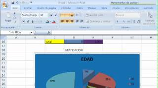 video tutorial de excel base de datos y porcentaje con graficas thumbnail
