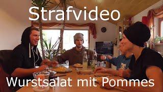 Strafvideo - Wurstsalat mit Pommes