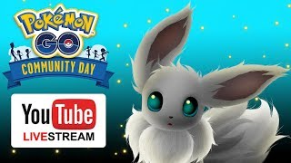 Eevee community day Pokemon go livestream!!