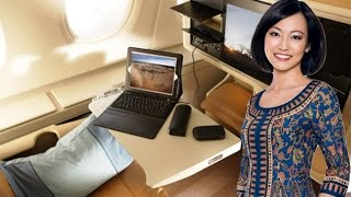 Flying Singapore Airlines BUSINESS CLASS to Seoul South Korea