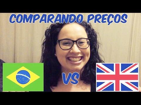 COMPARANDO PREÇOS 🇧🇷 Brasil X Inglaterra 🇬🇧 | LIH MORAIS