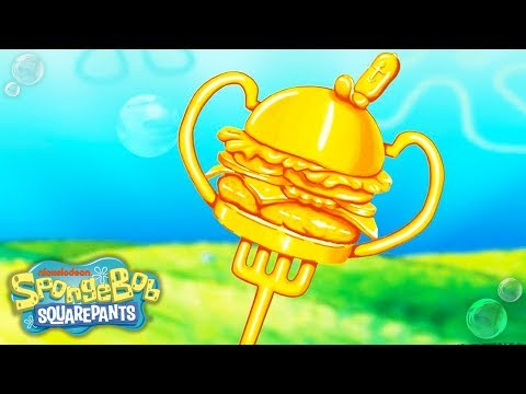 SpongeBob SquarePants | 'Krabby Patty Hall of Fame' Official Sing Along Rap Music Video | Nick