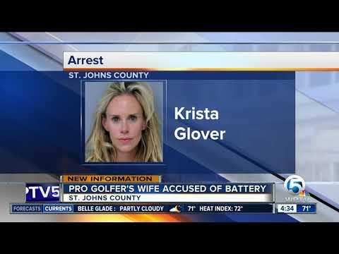 Wife of PGA golfer Lucas Glover arrested in Florida