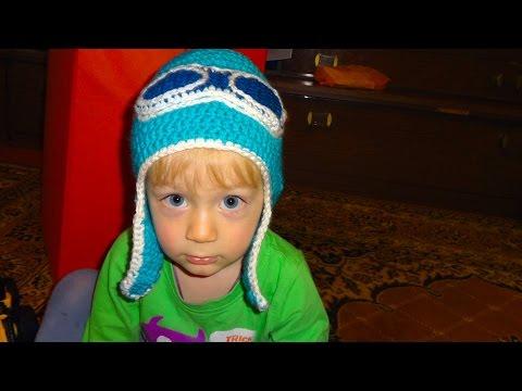 видео: Как связать шапочку (шапку) Шлем для ребенка крючком
