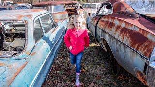 Classic Car JUNKYARD Adventure (daddy daughter date) - Hot Rod Hoarders Ep. 13