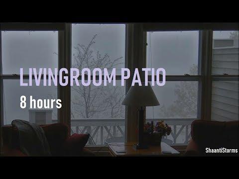 Rain Downpour Outside Patio Window - 8 Hours Heavy Rain for Sleep, Study and Relaxation