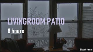 Rain Downpour Outside Patio Window - 8 Hours Heavy Rain for Sleep, Study and Relaxation