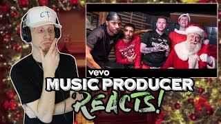 Music Producer Reacts to Sidemen - Merry Merry Christmas Ft. Jme & LayZ