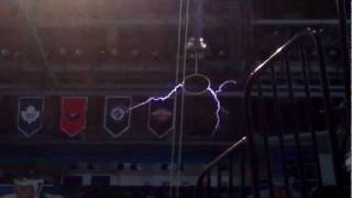 Testing out the Tesla Coil at St Pete Times Forum