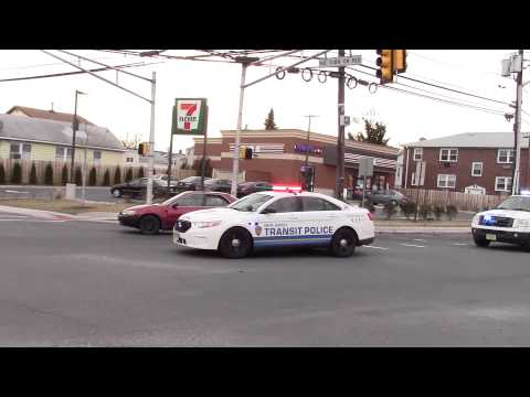 New Jersey Transit Police responding to Brush Fire Kearny 4-2-15