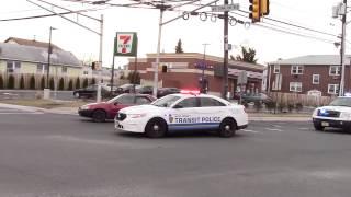 New Jersey Transit Police responding to Brush Fire Kearny 4-2-15