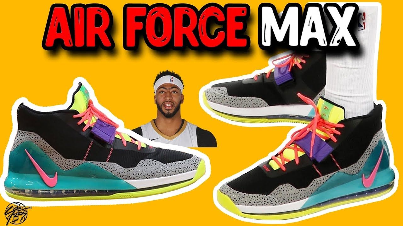 huge discount 1ef7a 98b52 Anthony Davis' Shoe! Nike Air Force Max Initial Thoughts!