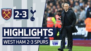 HIGHLIGHTS | WEST HAM 2-3 SPURS | Mourinho era starts with a win!