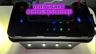 How to build Ice Fishing Portable Power Box with 12 LED Lights
