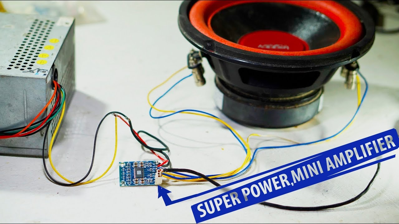 Subwoofer Test Tpa3116d With Double Coil Speaker Youtube Ohm Wiring