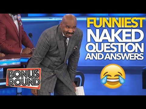 NAKED... Questions & Answers On CELEBRITY Family Feud USA