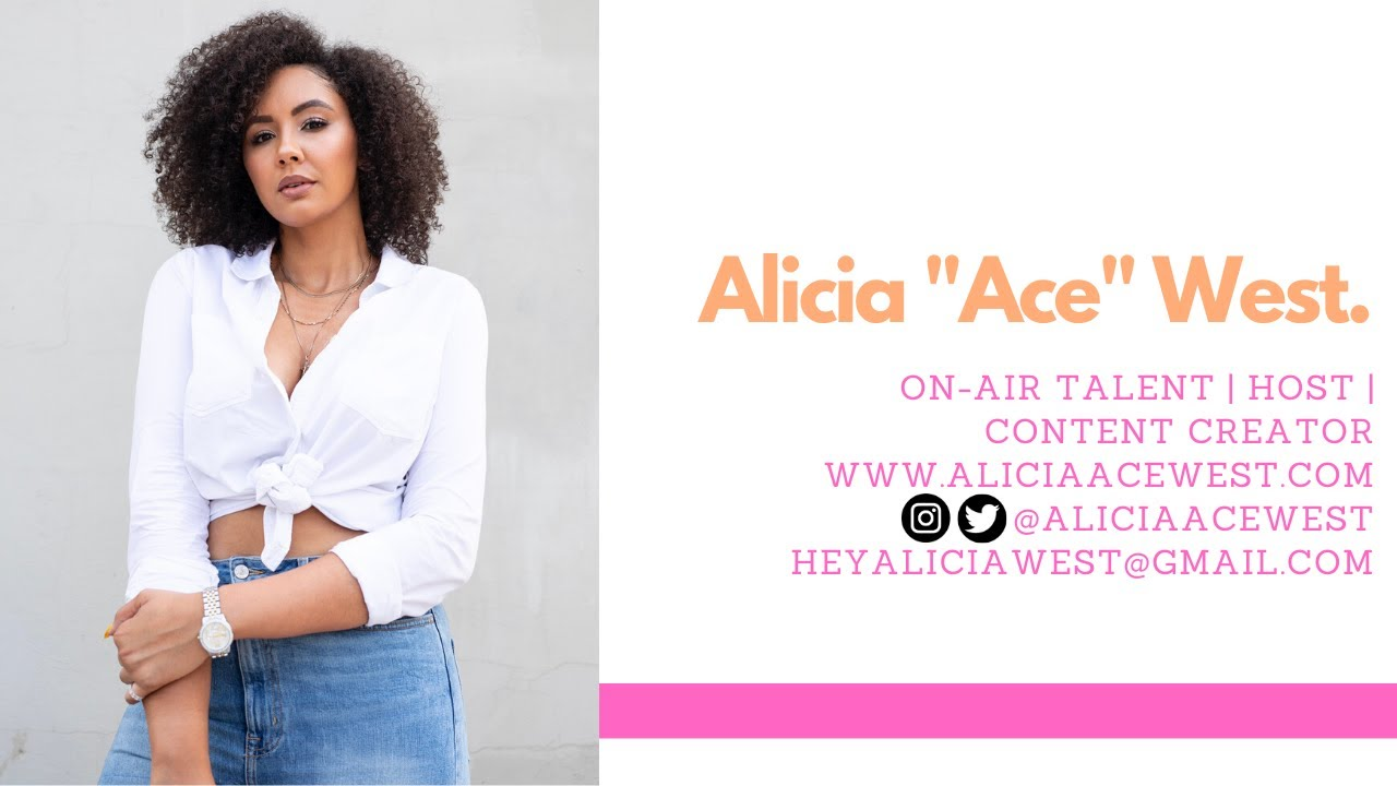 "Alicia ""Ace"" West - Interview + Hosting Reel"