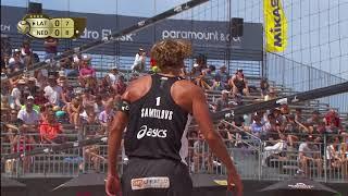 2018 FIVB Huntington Beach Open: Samoilovs/Smedins vs Brouwer/Meeuwsen - Men's Semifinal Match