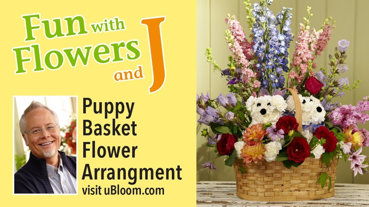 How To Make Flower Puppy Bouquet The Whoot