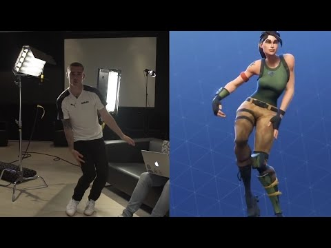 Antoinne Griezmann Dancing FORTNITE DANCES !!!
