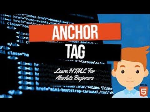 HTML Anchor Tag