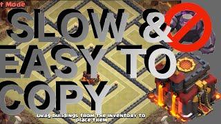Slow & Easy To Copy - Popular Th10 War Base! Anti-2 Star! Anti-Gowipe & Gowiwi! | Clash Of Clans