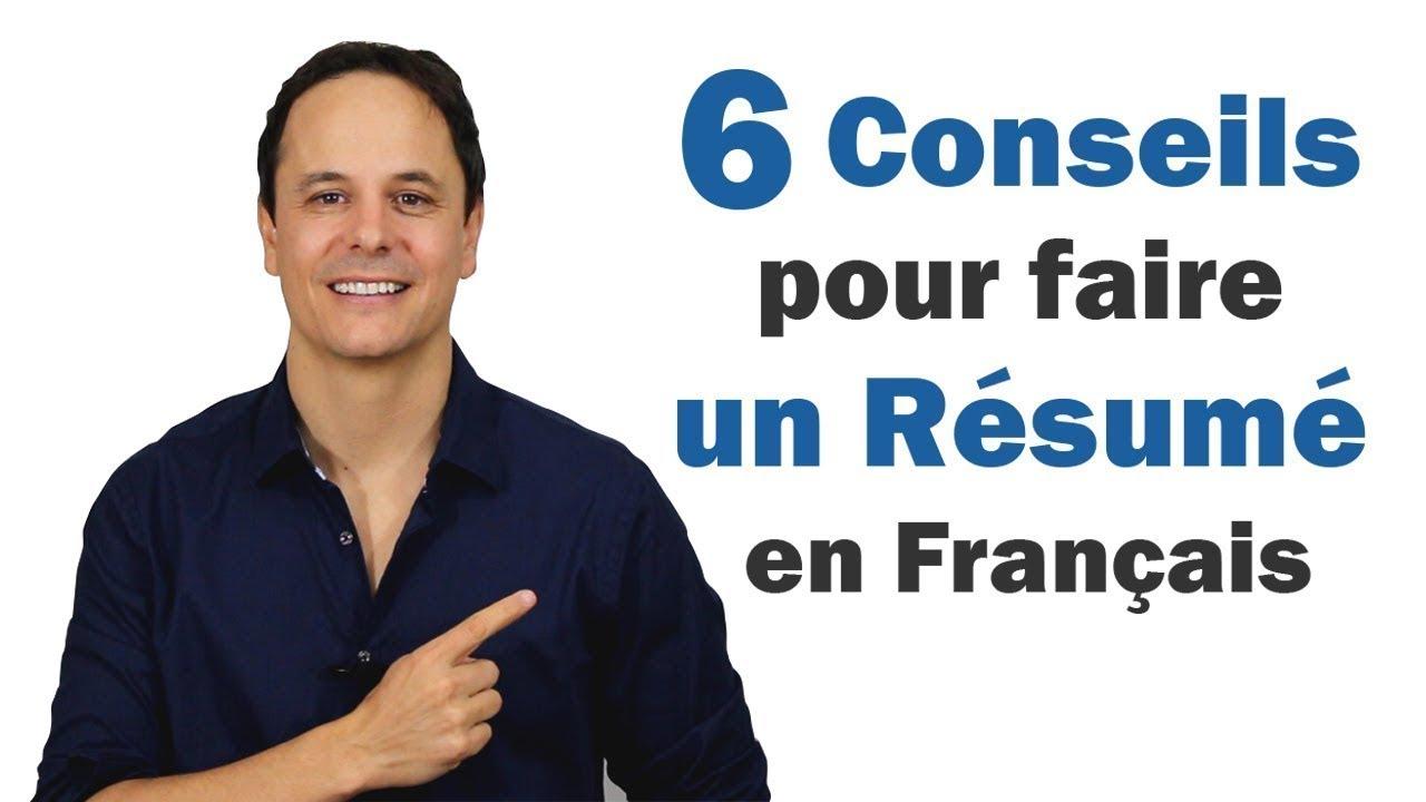6 Conseils pour faire un Résumé en Français   - YouTube