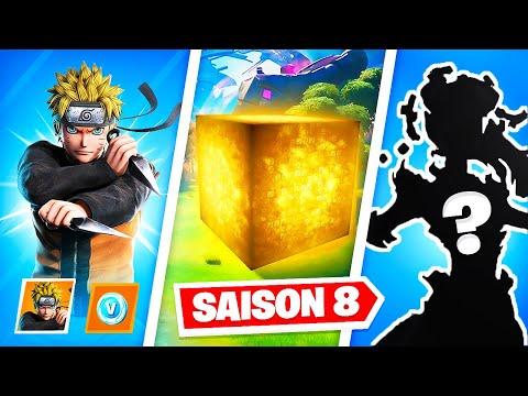 SECRETS SAISON 8 : Naruto, Cube en OR & Skin Mystère sur Fortnite..