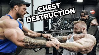 CHEST DAY WITH IAIN VALLIERE | LIFE IN OLYMPIA PREP