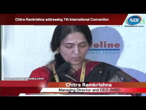 Chitra Ramkrishna addressing 7th International Convention