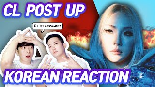 🔥(ENG) KOREAN RAPPERS react to CL +POST UP+ 🔥