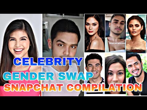 GENDER SWAP PINAY/PINOY CELEBRITY SNAPCHAT COMPILATION