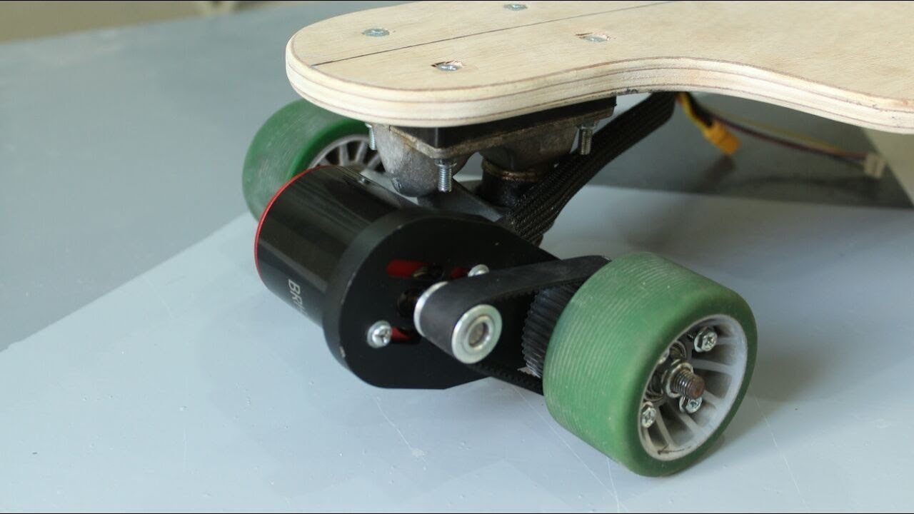 Diy Cheap Electric Longboard Motor Mount Belt And Pully Part 2