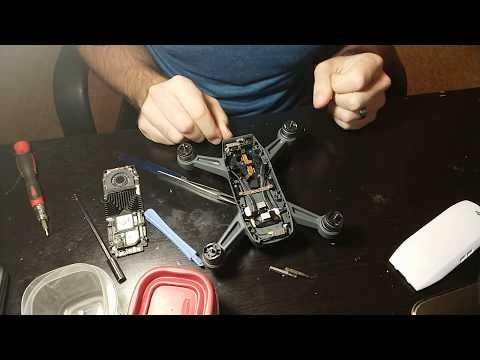 DJI Spark gimbal motor replacement installation