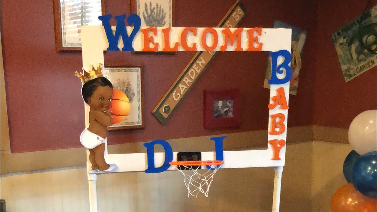 DIY Party Frame | Basketball Baby Shower
