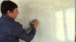 Алгебра 11 класс. 18 сентября. свойства корня n й степени #7