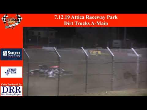 7.12.19 Attica Raceway Park Dirt Trucks A-Main