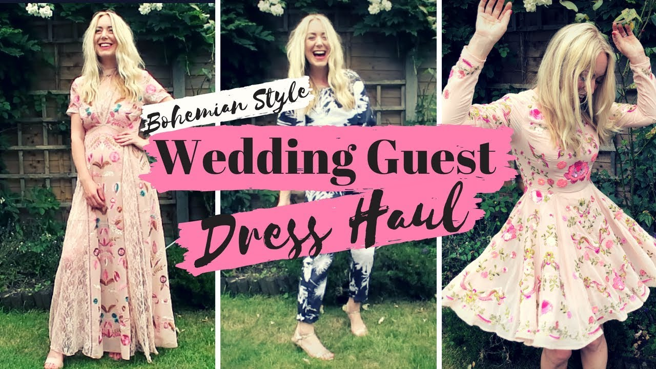c59fe9919 Boho Wedding Guest Dresses Haul & Try On | £30-£200 ASOS H&M | SJ STRUM