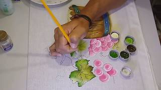 Roberto Ferreira – Aprenda a Pintar Uva Rosadas e Folhas
