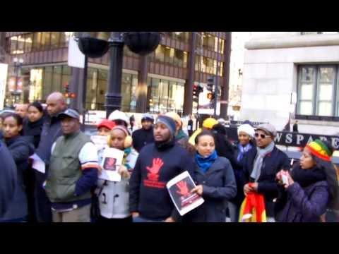 ETHIOPIAN PROTEST AGAINST SAUDI ARABIA IN CHICAGO