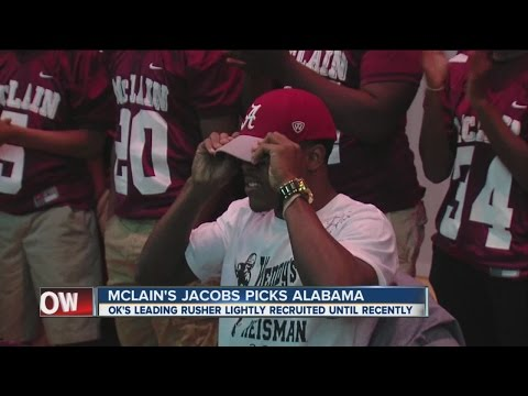 McLain's Josh Jacobs picks Alabama on Signing Day