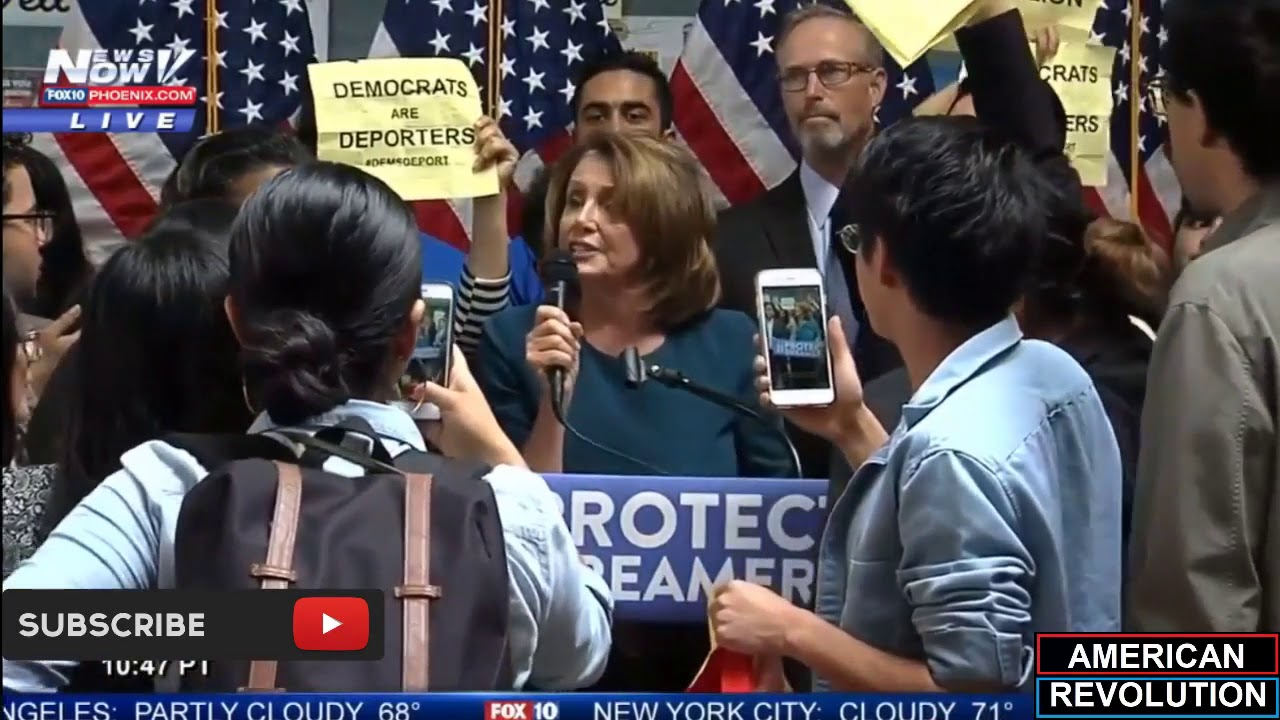 The Most GLORIOUS Thing Ever - DACA Dreamers ATTACK Pelosi