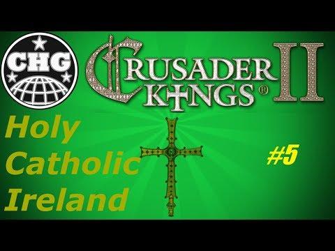 CK2: Ireland #5 - A White Mushroom in the Irish Garden